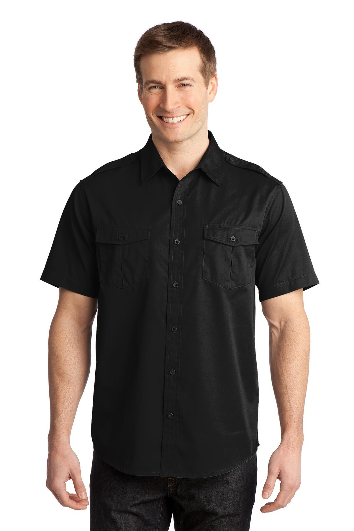Port Authority Stain-Release Short Sleeve Twill Shirt. S648