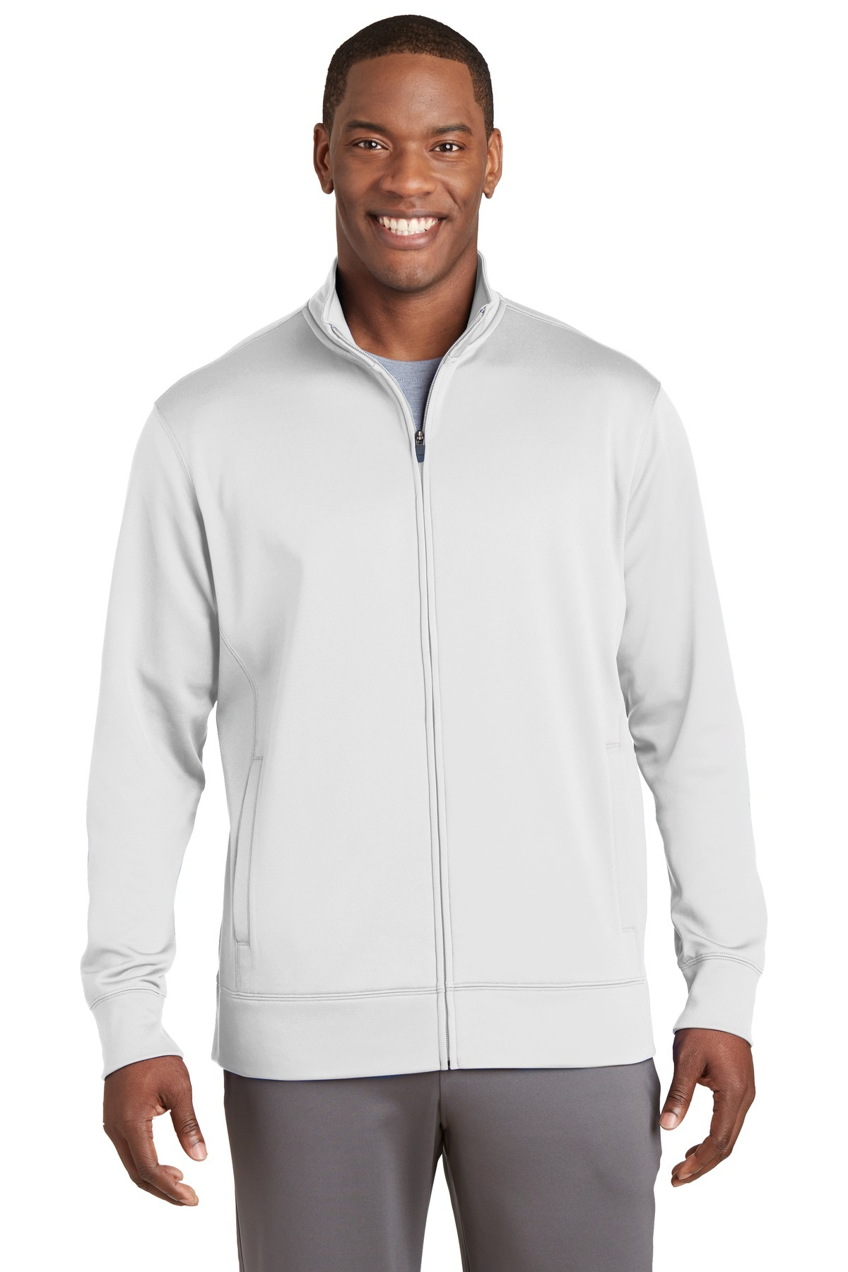 Sport-Tek Sport-Wick Fleece Full-Zip Jacket. ST241